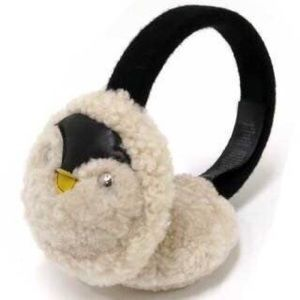 Coach Penguin Shearling Ear Muffs